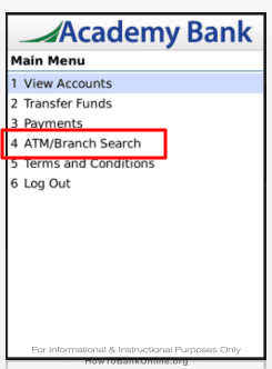 Academy Bank - ATM Branches - BlackBerry App
