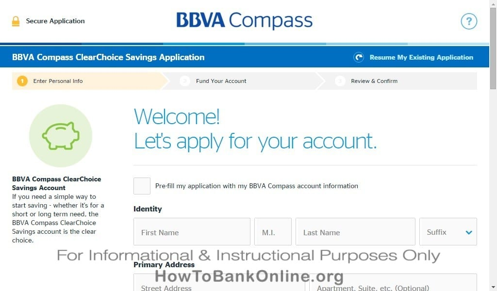 BBVA Compass Apply Account Online