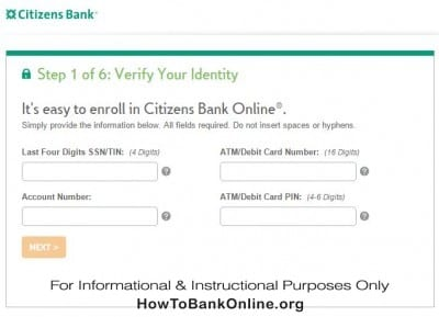 Charter One Enroll for Online Banking
