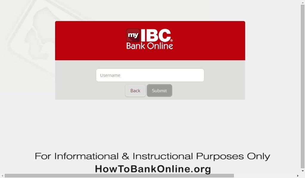 IBC Bank Forgot Password