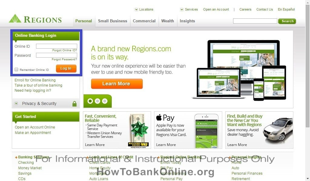 Regions Bank Online Banking Login