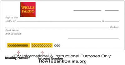 Wells Fargo Routing Number on a Check