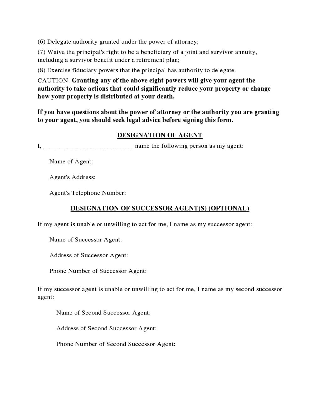 power of attorney form ohio for child  Free Ohio Power of Attorney Forms