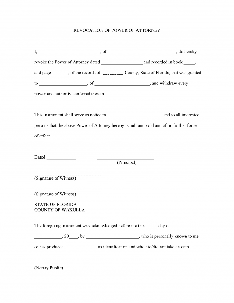 Florida Tax Power of Attorney Form (Form DR-835)
