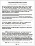 Florida Durable General Power of Attorney Form