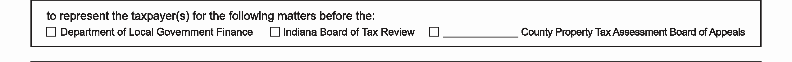 Indiana Tax Power of Attorney (Form 23261) (R76-10)
