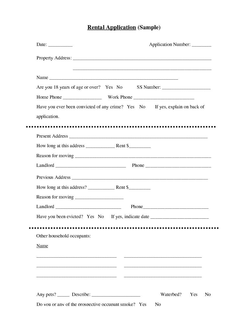 New York Basic Rental Application