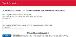 Forgot Bank of America login details