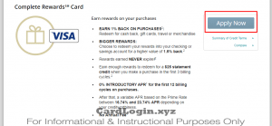 Apply for complete rewards card