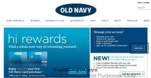 Old Navy credit card log in