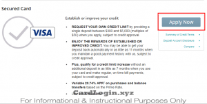 Apply for CNB secured card`