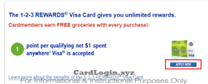 Apply for 123 rewards credit card
