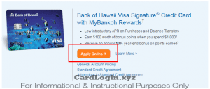 Apply for Bank of Hawaii Visa credit card