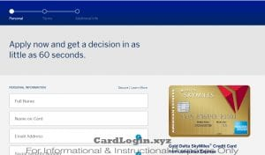 Apply for Delta Skymiles card