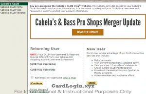 Cabela's Club login