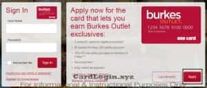 Apply for Burkes Outlet credit card