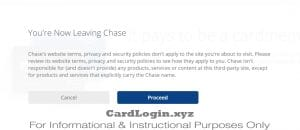Chase confirmation