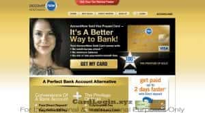 Apply for Account Now card
