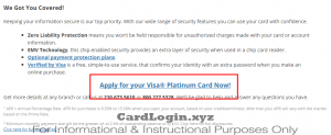 Apply for AFFCU Visa Platinum card