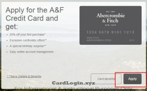 Apply for A&F card