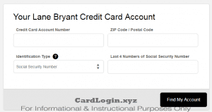 Activate Lane Bryant Credit Card