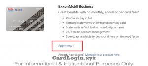 Apply for Exxon Mobil Business Card