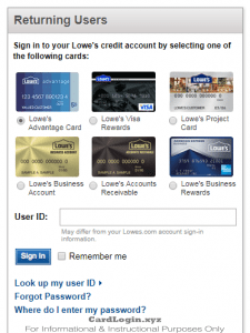 Lowe's Consumer Card Login