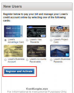 Activate Lowe's Consumer Credit Card