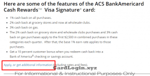 Apply for ACS credit card