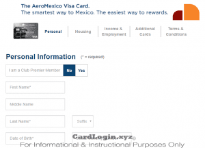 Apply for AeroMexico Visa credit card