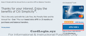 Apply for Simplicity Credit Card