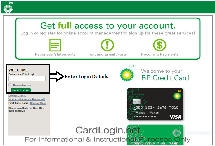 Visa Credit Card Login >> Bp Visa How To Login How To Apply Guide