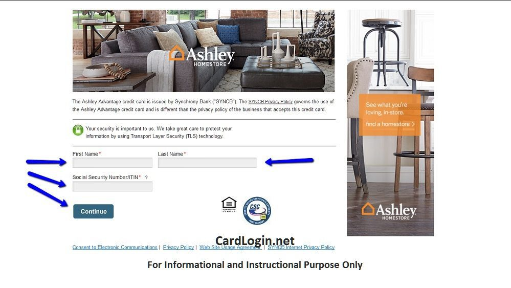 Ashley_Advantage_Online_Application_Page
