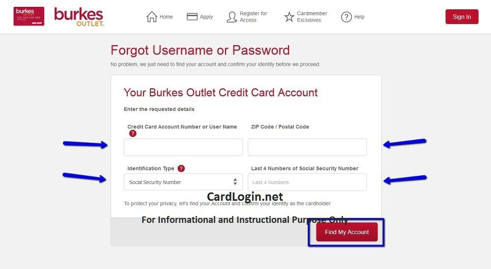 Burkes_Outlet_Credit_Card_User_ID_or_Password_reset