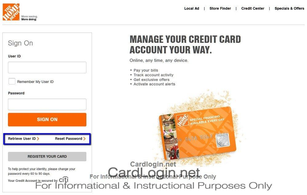 Home_Depot_Consumer_Credit_Card_ID_Password_reset_menu