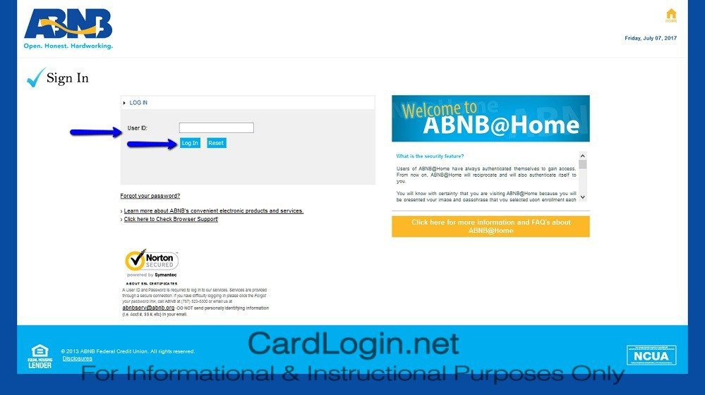 ABNB_MasterCard_Platinum_Credit_Card_Login_Step_1