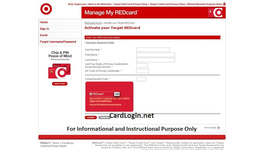 Activate_Target_Redcard_Credit_Card