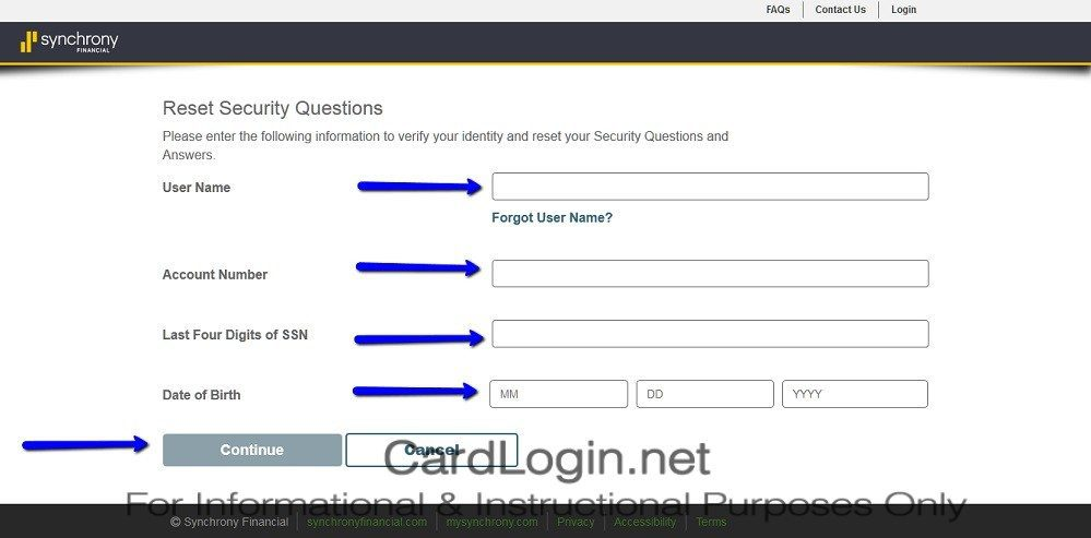 American_Signature_Furniture_Credit_Card_Reset_Security_Question