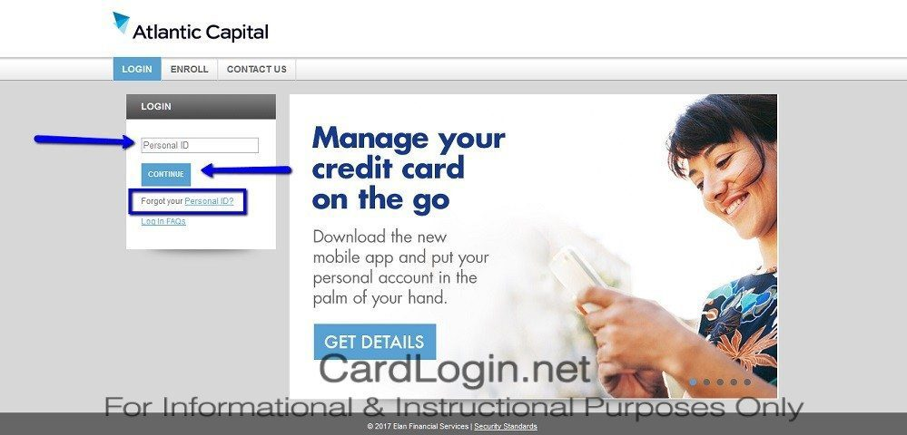 Atlantic_Capital_Visa_Business_Cash_Card_Login Step 1