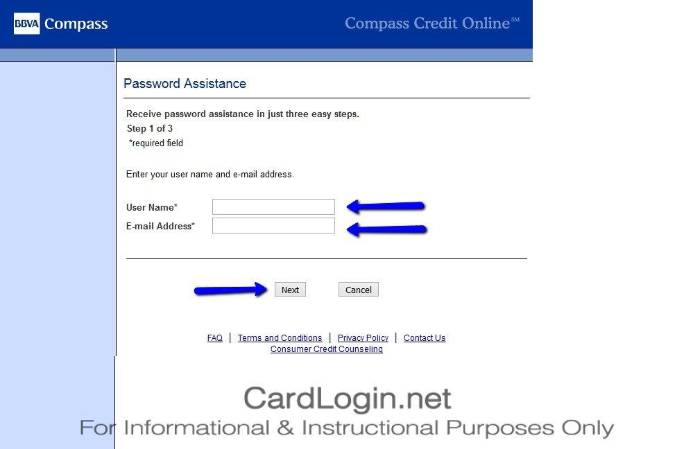 Forgot_Your_BBVA_Compass_Select_Credit_Card_User_ID_Or_Password