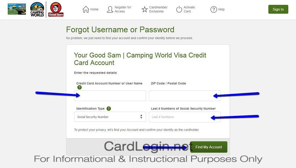 Forgot_Your_Good_Sam_Camping_World_Visa_Credit_Card_User_ID_Or_Password