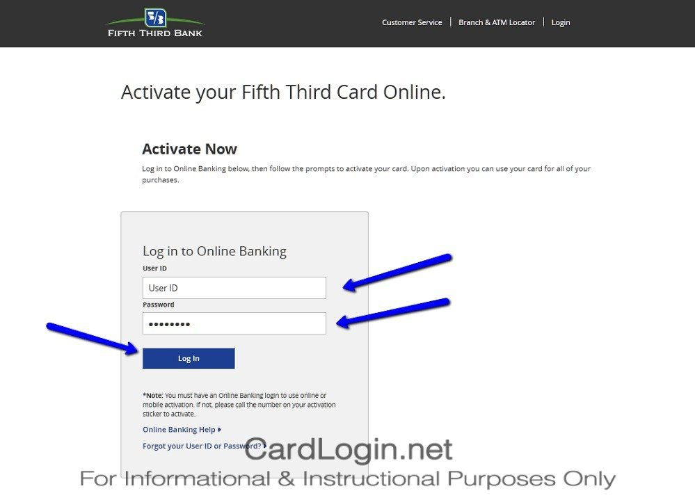 How To Activate Fifth Third TRIOSM Credit Card