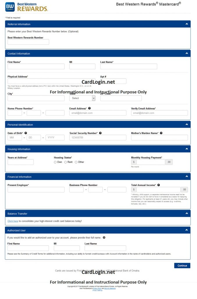 How to apply for Best Western Rewards MasterCard