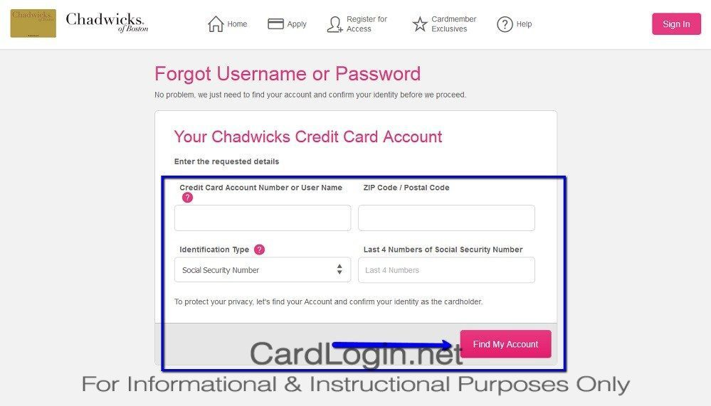 Forgot_Your_Chadwicks_Credit_Card_User_ID_Or_Password